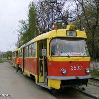 "T3SU-Zug an der Wendeschleife ""Zhilgorodok"", Кириллов"