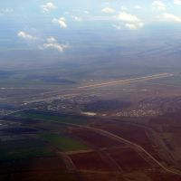 Airport Volgograd Gumrak, view on approach from the North, Кириллов