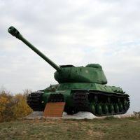 Памятник танкистам. Танк ИС-2, выдаваемый за КВ, Алущевск