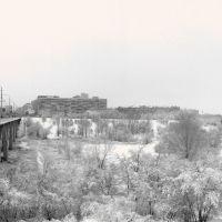 Panorama . Мост через реку Царица.Зима., Волгоград