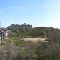 Panorama . Мост через реку Царица.Весна., Волгоград