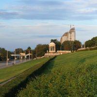 Panorama . Центральная набережная,вид на речпорт., Волгоград