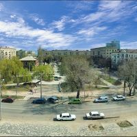 Panorama.Вид из библиотеки.The area before library, Волгоград