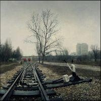 Туман,железнодорожные стрелки., Волгоград