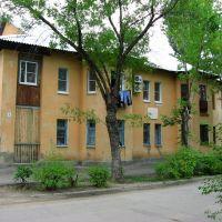 Первый бетонный дом в Волжском. The first concrete house in the Volgsky cyti., Волжский