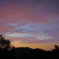 Закат над городом. Sunset over the city., Волжский