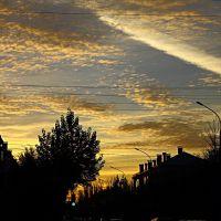 Осеннее небо. Autumn sky., Волжский