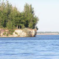 Kamyshinka river and Volga, Камышин
