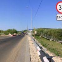 Вид на мост от поста ДПС. Панорама., Клетский