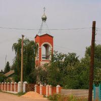 Доминанта сельхоз территории-колокольня Троициной церкви., Кумылженская