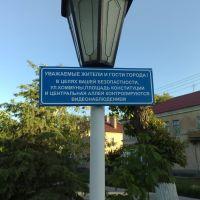 Центральная Аллея контролируется видеонаблюдением (jun 09), Михайловка