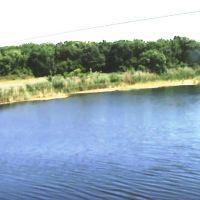 Правый берег реки Бузулук. Взгляд с автомобильного моста. Фото № 1., Новоаннинский