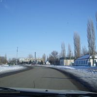 Въезд в село Ольховка, Ольховка