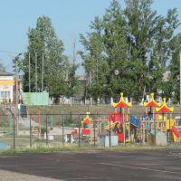 Детская площадка на стадионе., Рудня