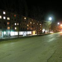 центральная улица ночью, Светлый Яр