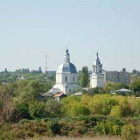 Вид на Воскресенскую церковь при въезде в город, Серафимович