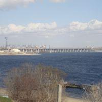Вид на Волжскую ГЭС со Спартановки, Сталинград