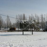 Сквер в 9 микрорайоне. Winter in the city., Сталинград