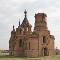Храм Николая Чудотворца в станице Голубинская, разрушен во время войны, Сталинград