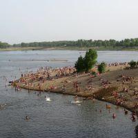 Пляж острова Зелёный, Волжский. Река Ахтуба. Green Island beach, Сталинград