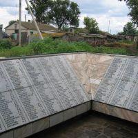 russisches Denkmal der gefallenen aus dem Ort Sapadnovka, Сталинград