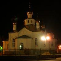 Церковь ночью 27.10.2008, Фролово