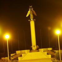 """Памятник меценатам """"Ангел мира"""" ночью 27.10.2008, Фролово"""