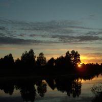 Закат на реке, Бабаево