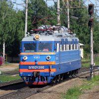 27.VI.2009. Электровоз ВЛ60К-1386 [e-locomotive VL60K-1386], станция Бабаево [station Babaevo], Бабаево