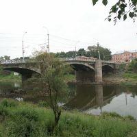 Россия: Вологда: Октябрьский мост: река Вологда; 18:36 11.08.2006, Вологда