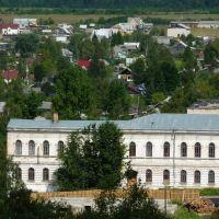 Vytegra. Lesotehnikum (College of Forestry). View from the bell tower / Вытегорский лесотехникум (вид с колокольни), Вытегра