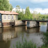 Vytegra. Old hydroelectric Mary water system. Branch of the Museum of Local Lore  / Старый гидроузел Мариинской водной системы (филиал краеведческого музея), Вытегра