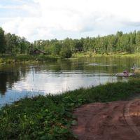 Река Вытегра в центре одноимённого города — Vytegra River in the heart of the eponymous city, Вытегра