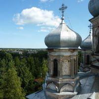 Vytegra. Cupolas of cathedral Sreteniya Gospodnya — Купола собора Сретения Господня, Вытегра