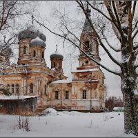 Вытегра. Сретенская церковь зимой, Вытегра