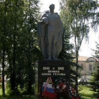 Кичменгский городок. Памятник в парке., Кичменгский Городок