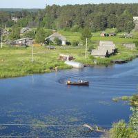 Old village, Borovka river(view toward east), река Боровка и вид на старую часть(деревню) (вид на восток), Липин Бор