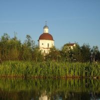 Church(view from Borovka river toward south)-вид на церковь с реки, Липин Бор