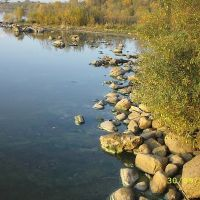 Stones under pier right, Липин Бор
