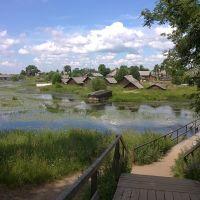 мост через реку Боровка/ bridge over the river Borovka, Липин Бор