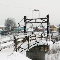 Никольск. Висячий мост через р. Юг., Никольск