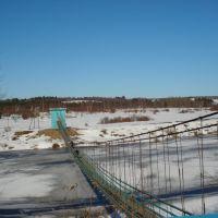 Навесной мост через р. Кубена, Харовск
