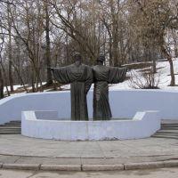 Памятник инокам Афанасию и Феодосию - основателям Череповца, Череповец
