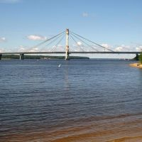 Вид на реку Шексна в сторону устья и Октябрьский мост / View of the Sheksna river towards its mouth and the October bridge (22/07/2007), Череповец