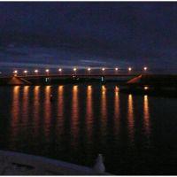 Sheksna - vista noturna da ponte - Russia .τ®√ℓΞΛج, Шексна