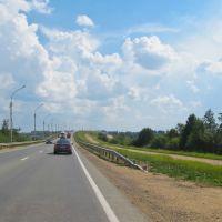 Въезд на мост через р.Шексна со стороны СПб, Шексна