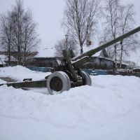 Sheksna. Monument cannon  Шексна  Памятник пушка, Шексна