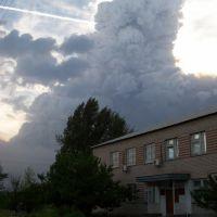 Лесной пожар в Гороховке 2010г, Верхний Мамон