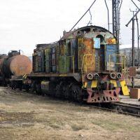 Дохлый тепловоз ТЭМ-2.  Dead locomotive of TEM-2, Лиски