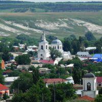 """Вид с микрорайона """"гора Пеньковая"""" на центр города, Калач"""